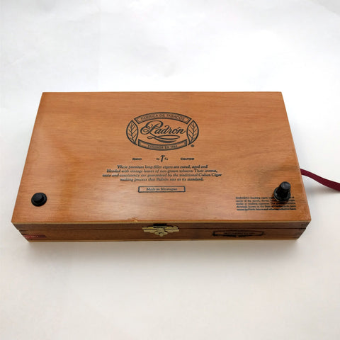 Handmade Magnetic Stir Plate: Padron Cigar Box