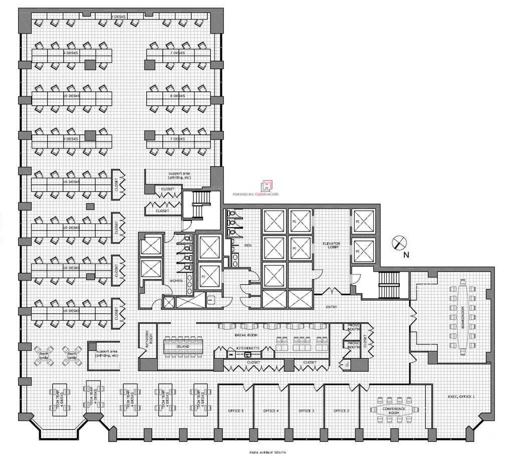 Floor hacker - existing plans, floor plans, test fits-office leasing