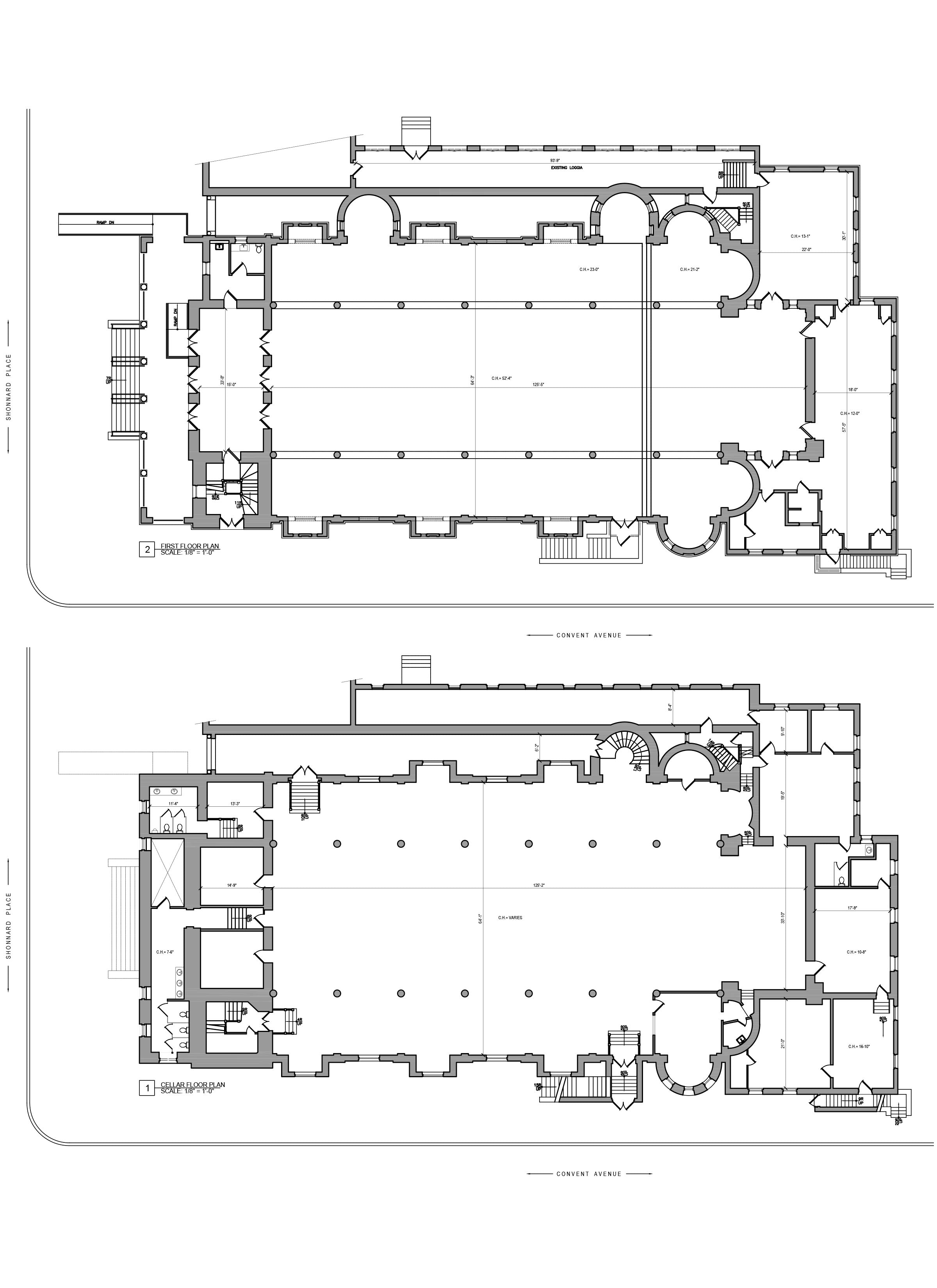 As Built Drawings - Building Survey_Church floor plan _Yonkers, NY