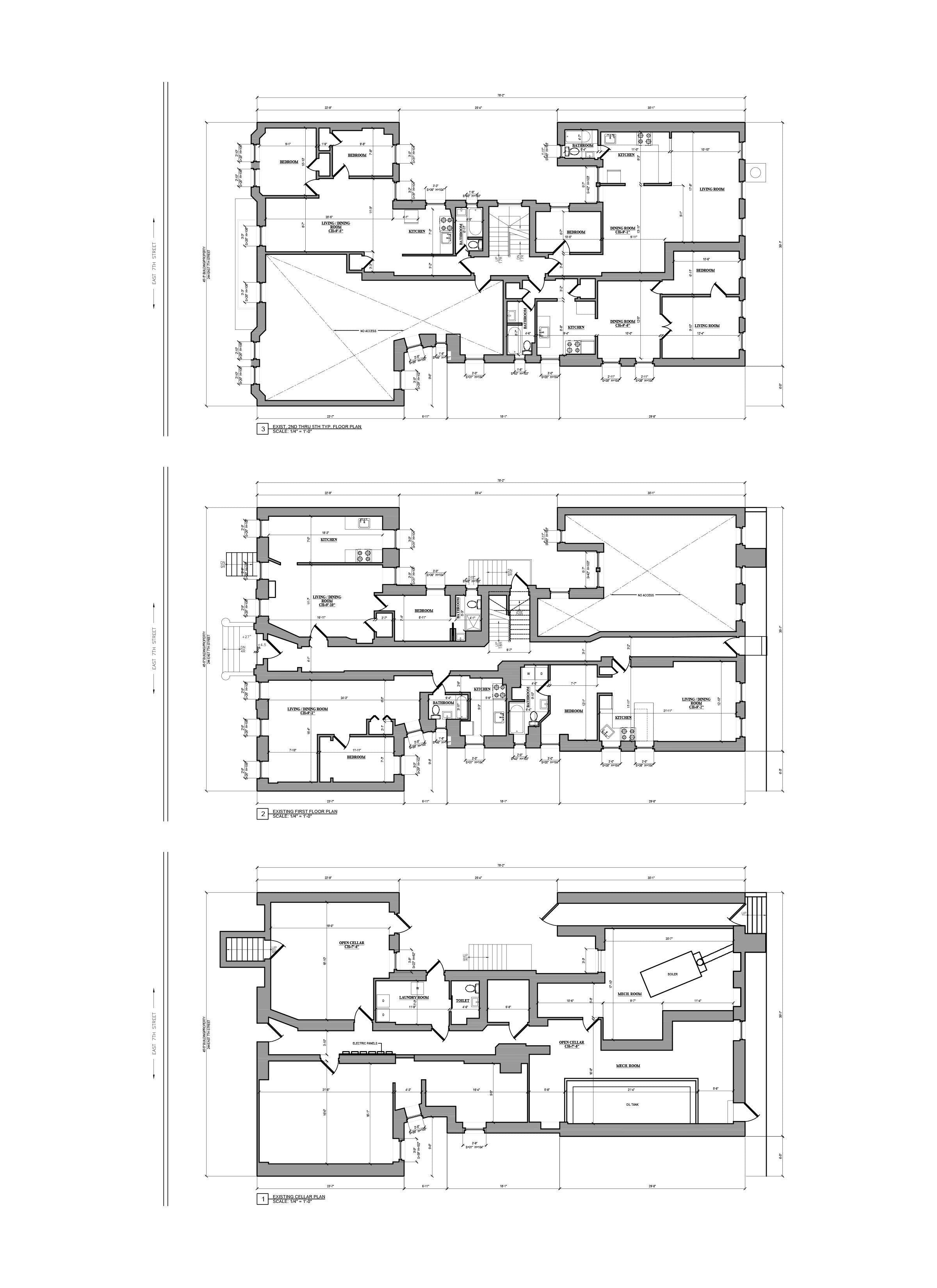 As Built Drawing - AutoCAD drafting_Multifamily _Brooklyn, NY