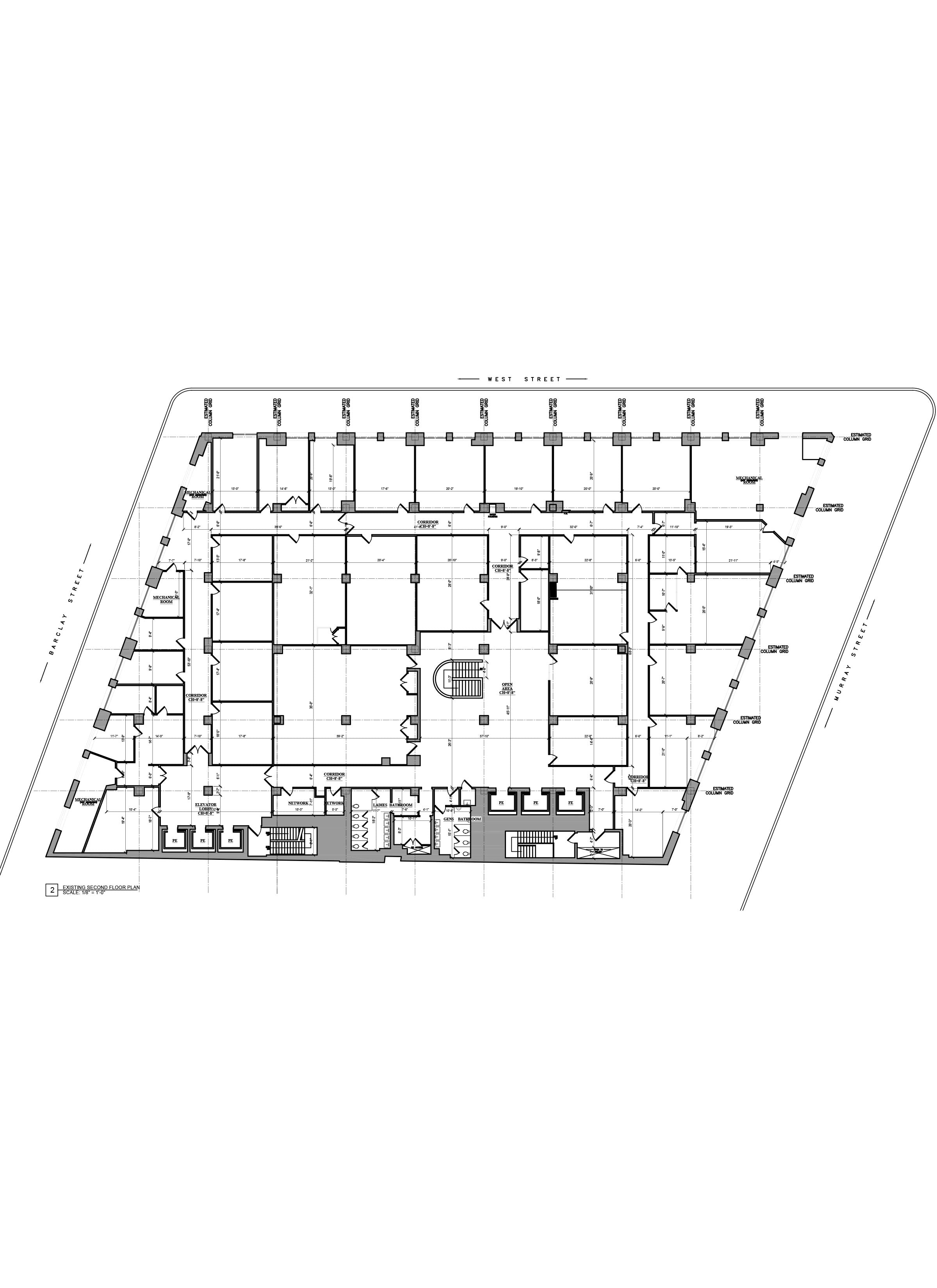 As Built Drawings - Building Survey_Commercial Building Floor Plan _NYC