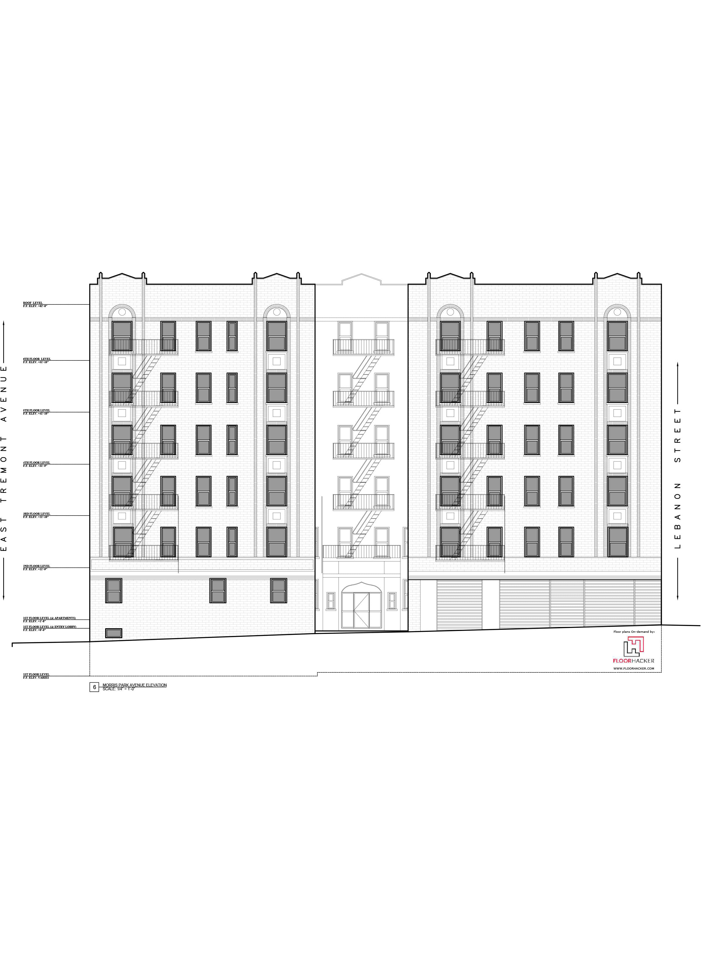 As Built Drawings _Multifamily Building Elevations_Bronx, NY