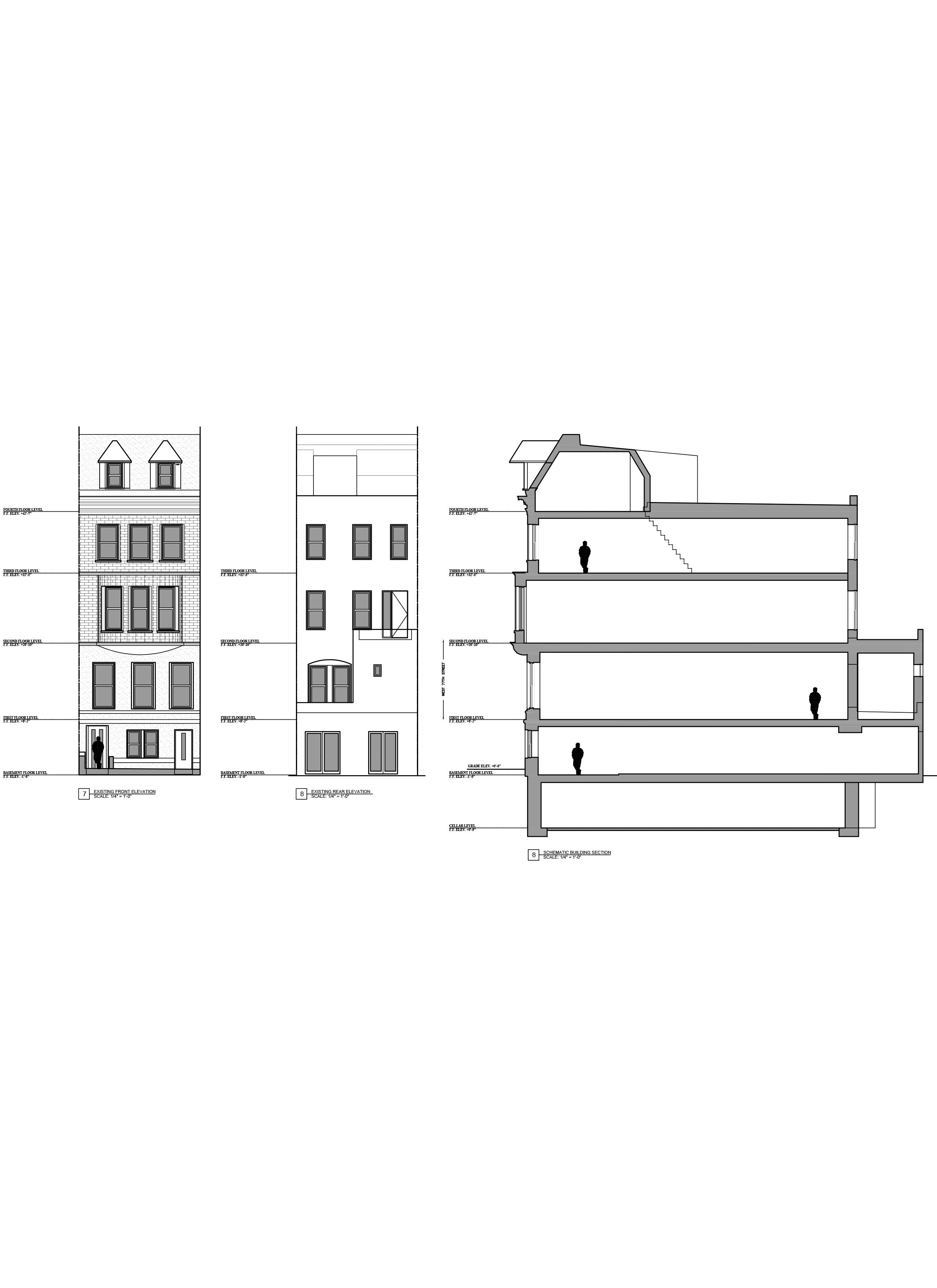As Built Drawings _Multifamily Building Elevations, NYC