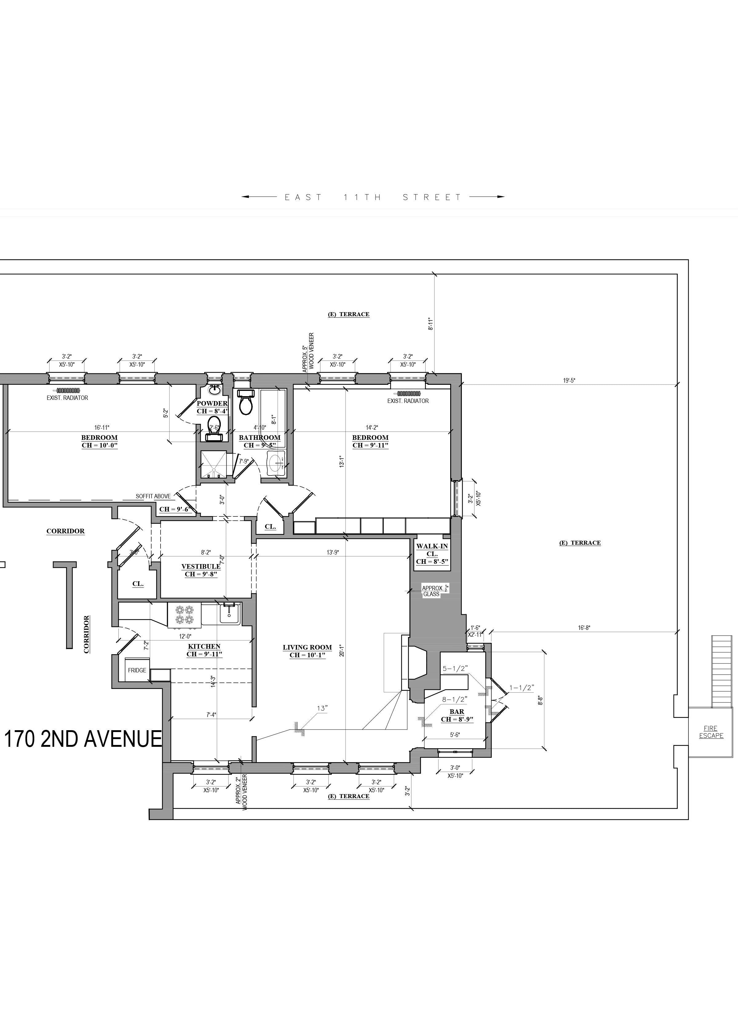 As built survey_HomeApartment floor plan design_NYC