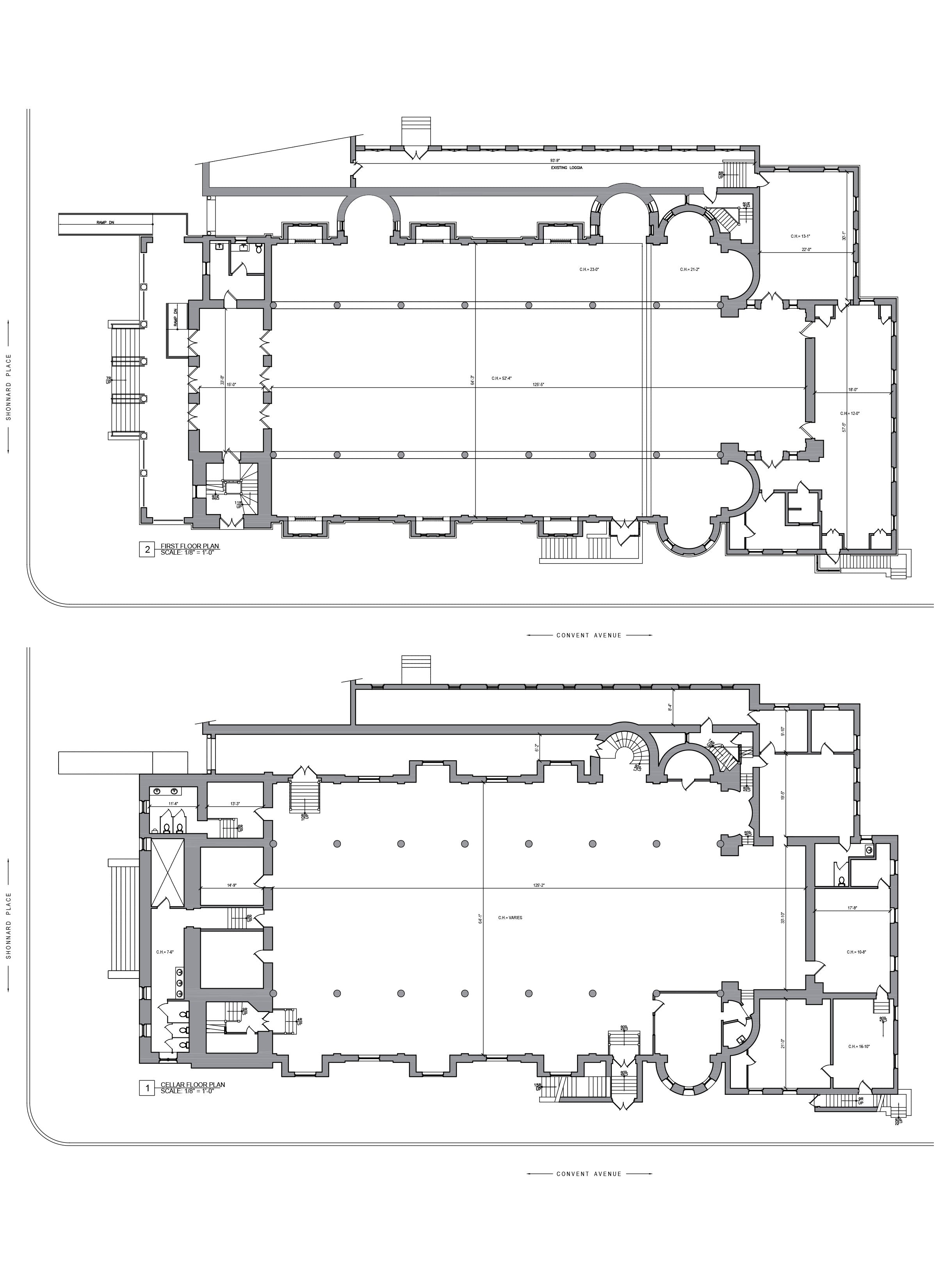 AS BUILT SURVERY - CHURCH FLOOR PLAN YONKERS,NY