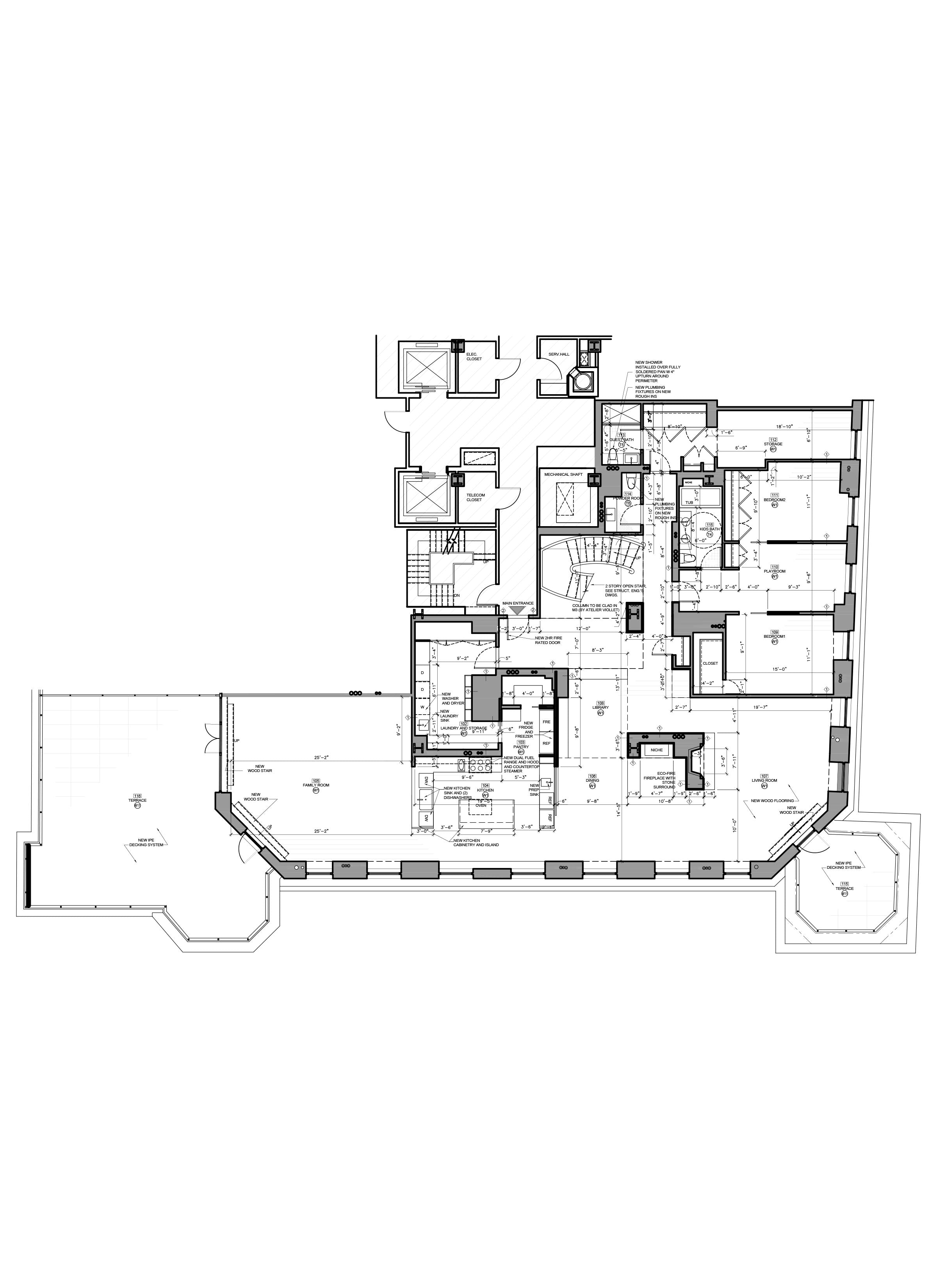 AutoCAD drafting - Bid Set HomeApartment floor plan design_NYC