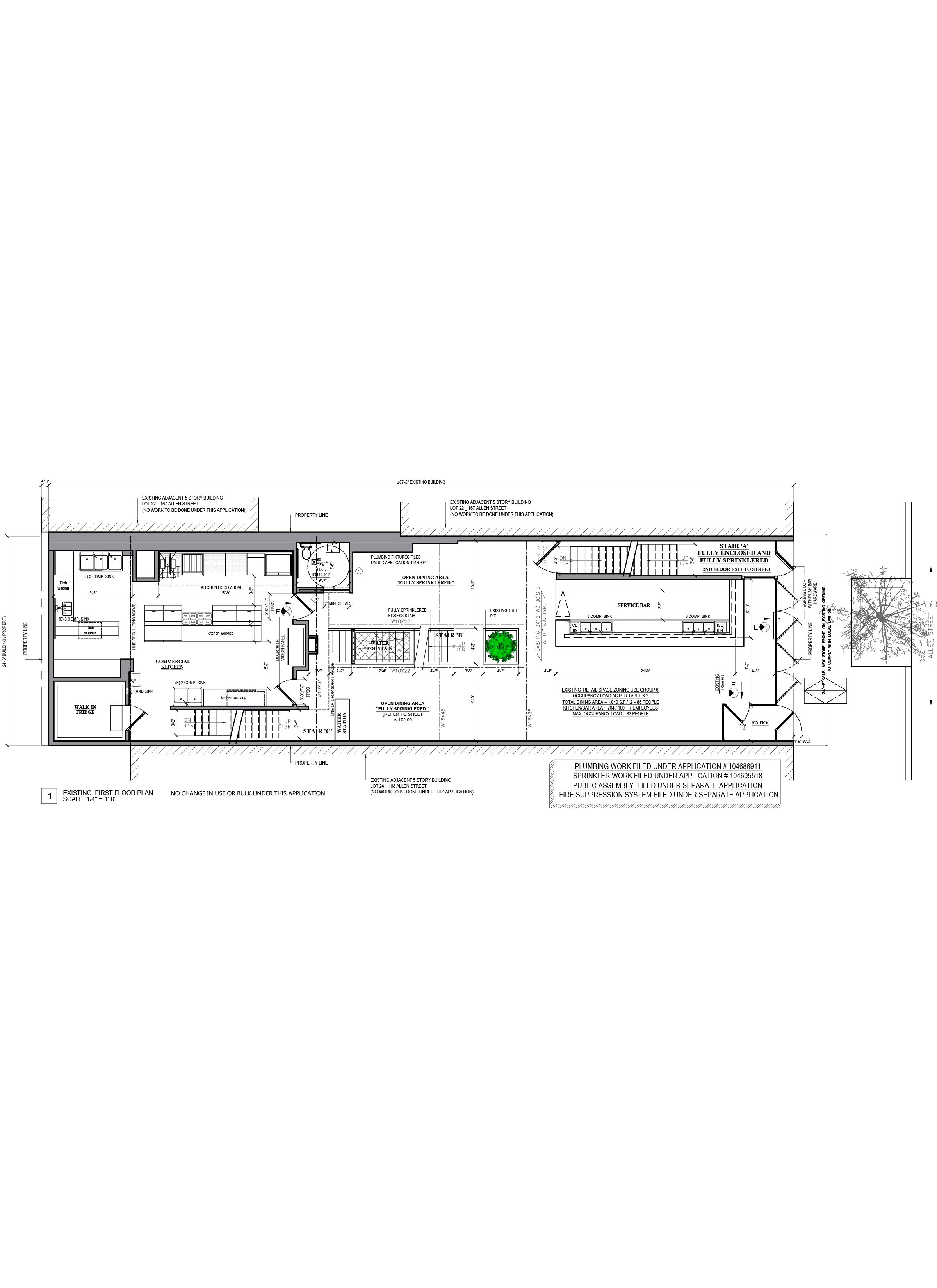 AutoCAD drafting_Restaurant floor plan design_Rayuela_NYC