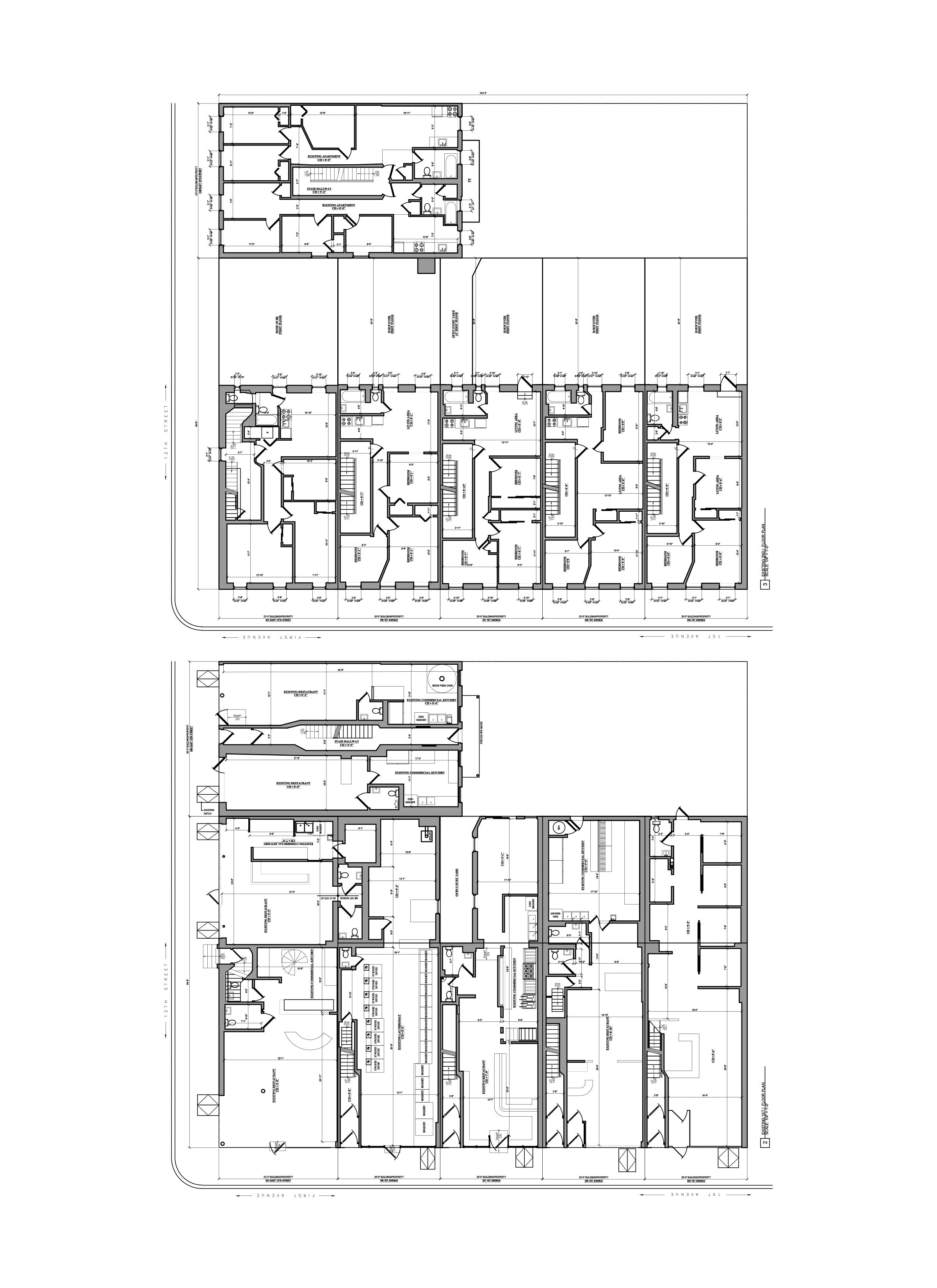 AutoCAD Drafting-As Built Drawings _Mix-use Building, NYC