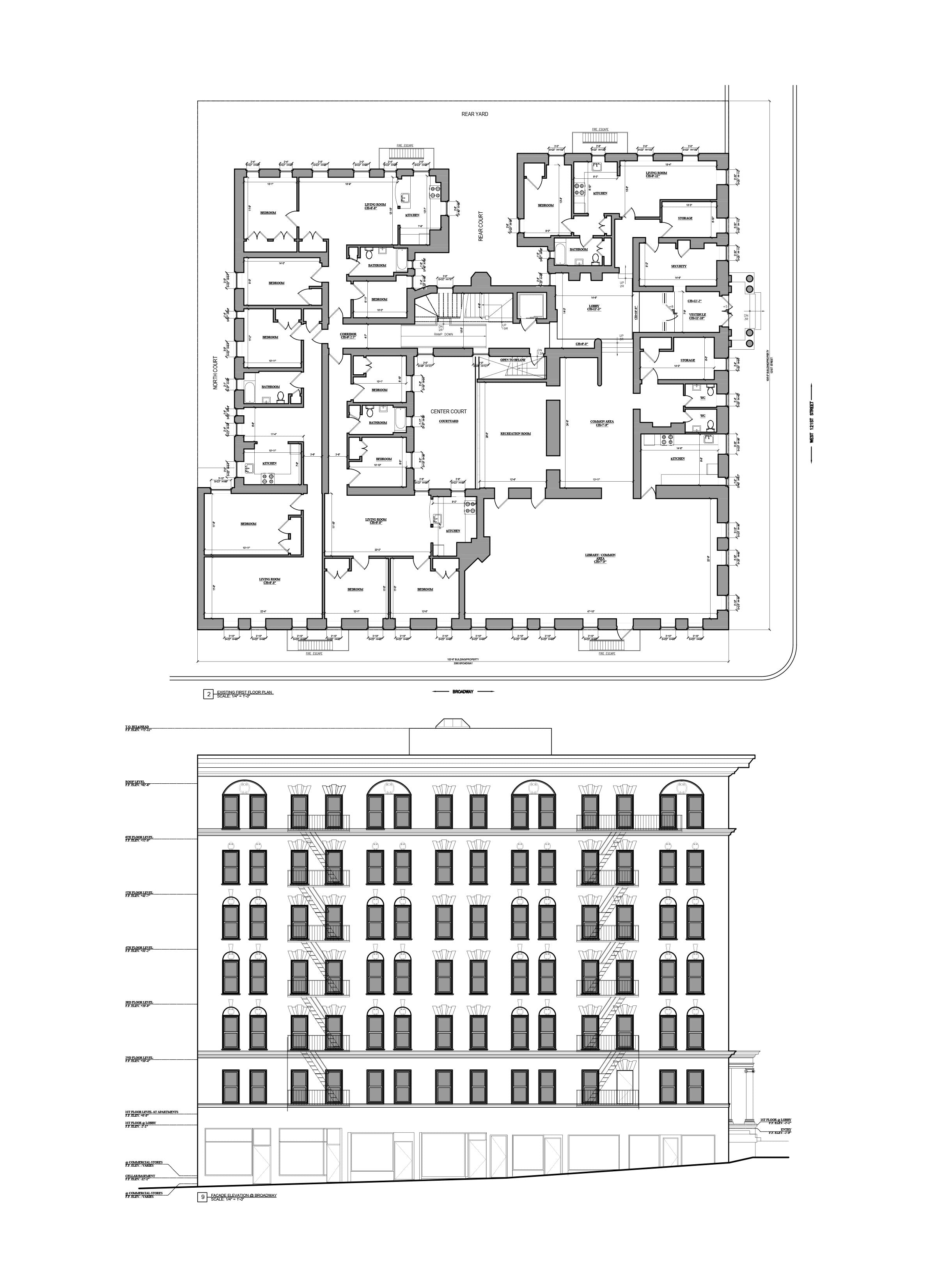 AutoCAD Drafting-As Built Drawings -Multifamily Building_Bronx, NY