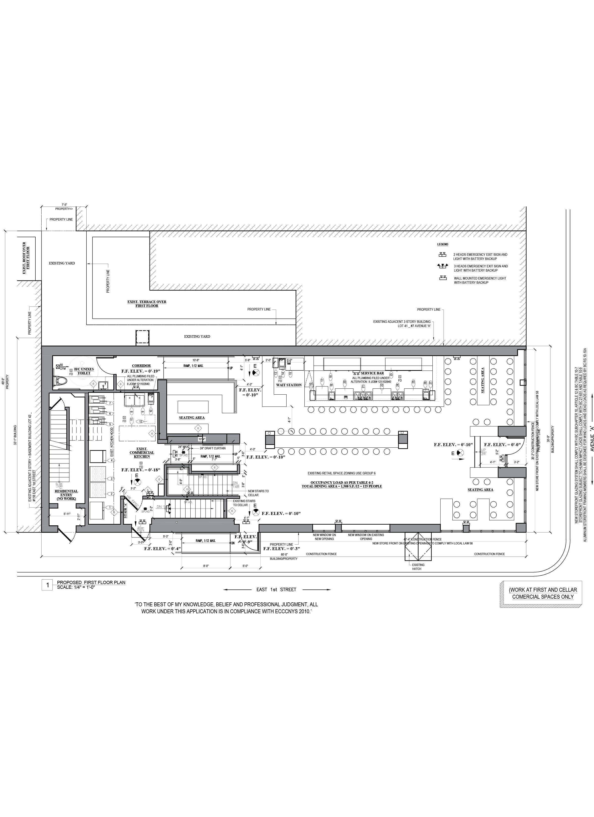 AutoCAD drafting_Restaurant floor plan design_Boulton&Watt_NYC