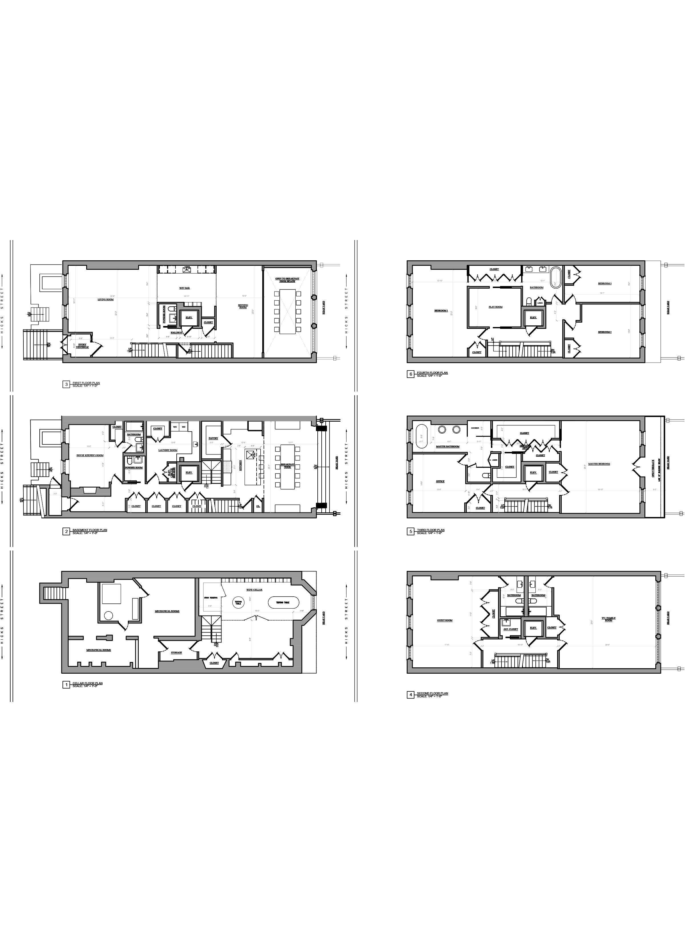 Floor plan design - AutoCAD drafting _Town house_NYC