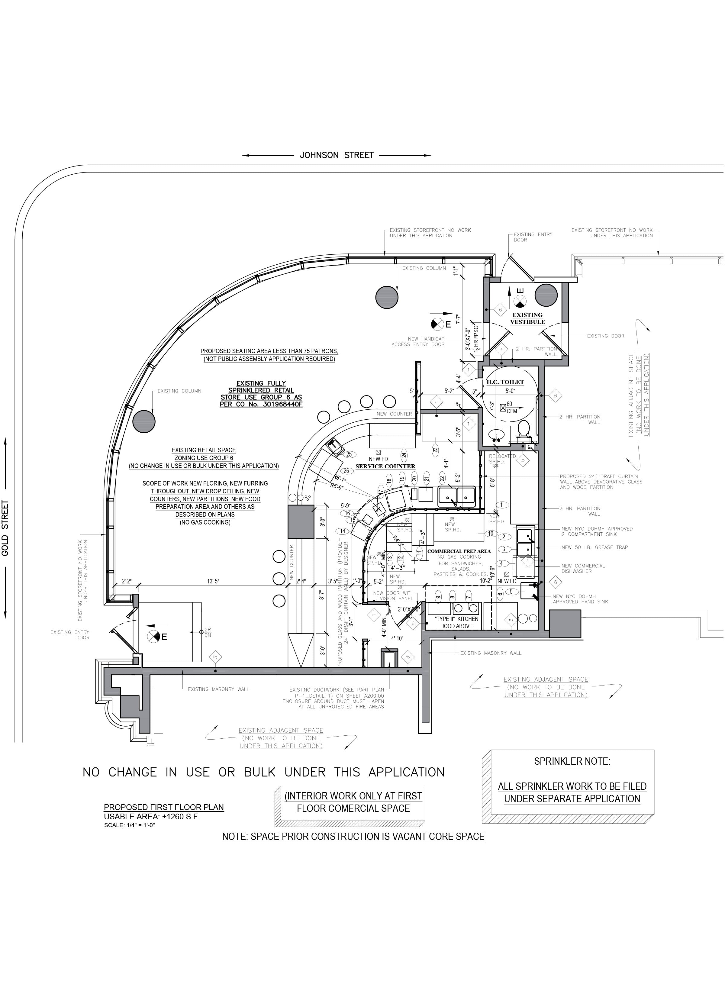 Floor plan design - AutoCAD drafting_Coffee Shop_Brooklyn, NY