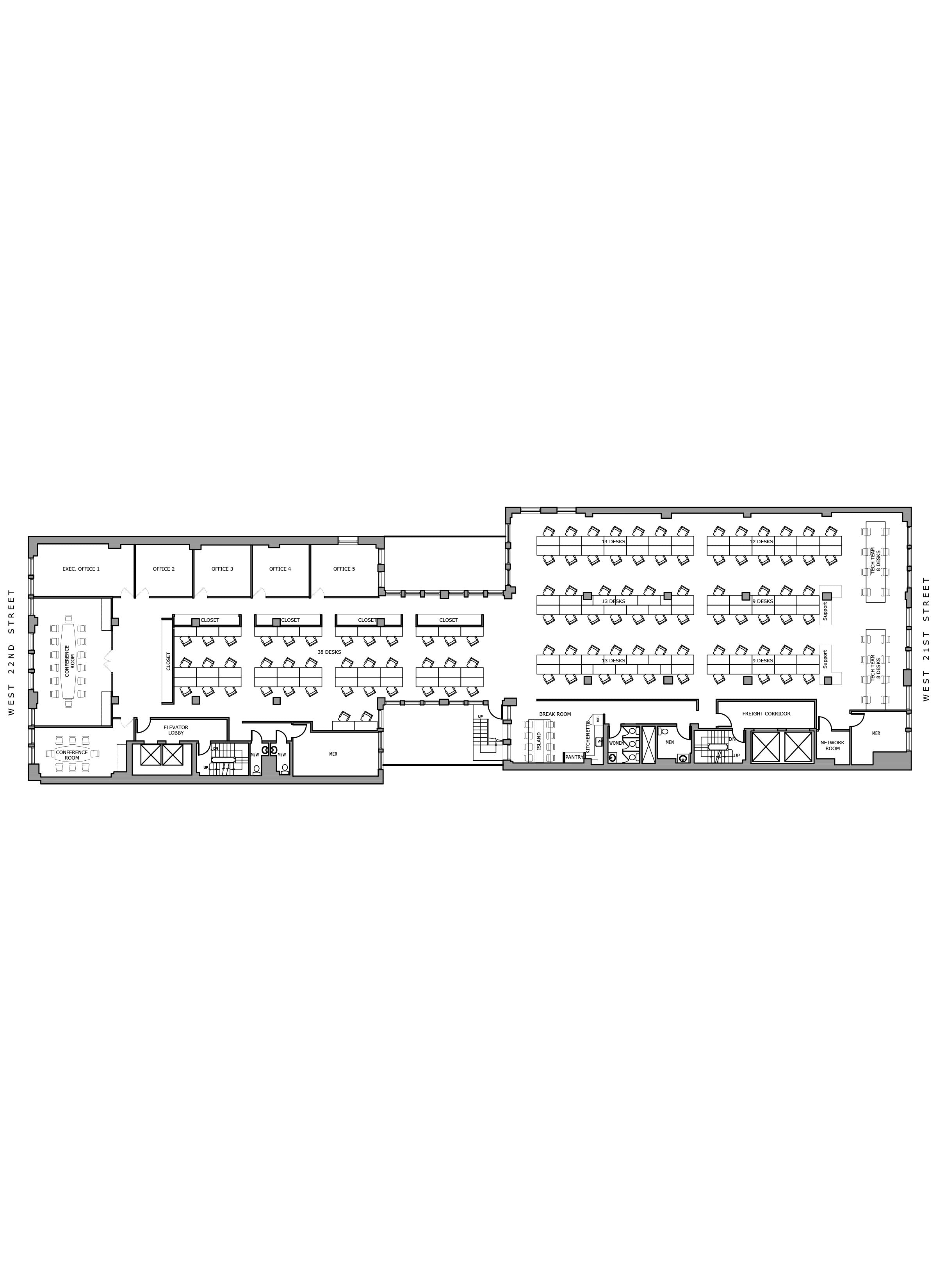 Floor plan design-Office test fit_NYC