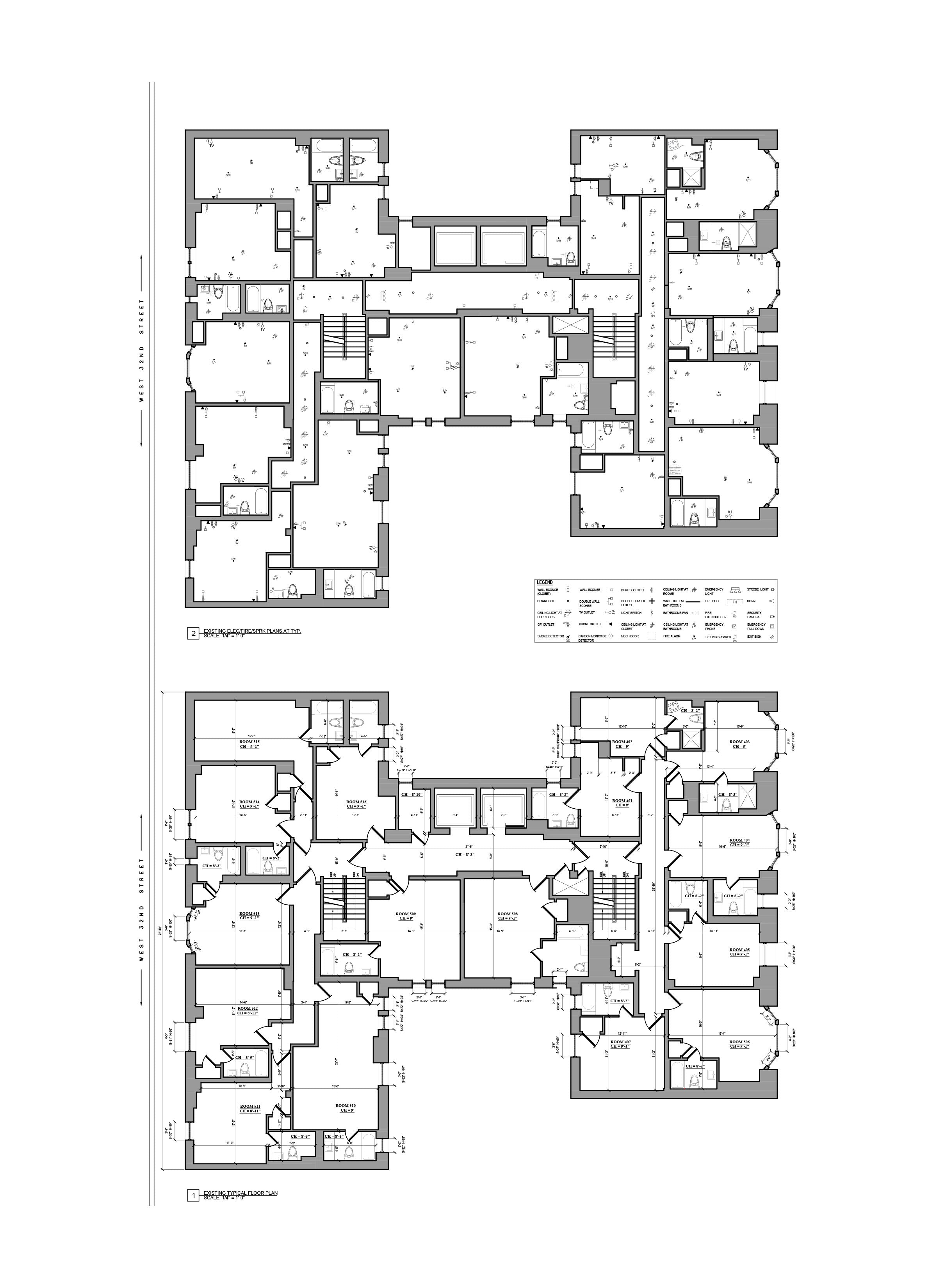 As Built Drawing - Building Survey_Hotel Floor Plan_ NYC