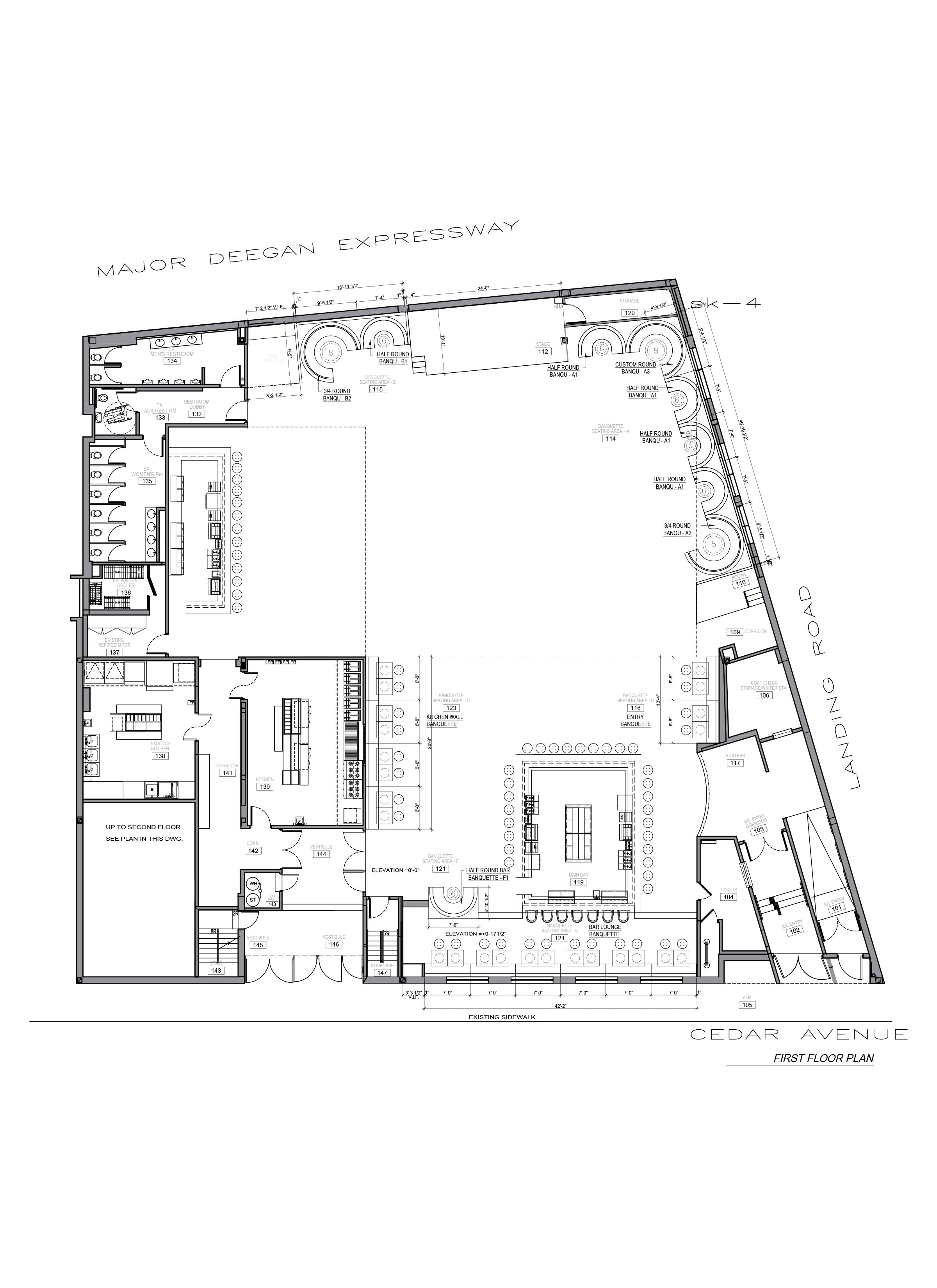 Floor plan design_Restaurant & Bar_Salsa con Fuego_Bronx, NY