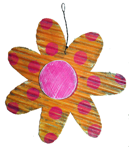 FLOWER - ORANGE WITH PINK
