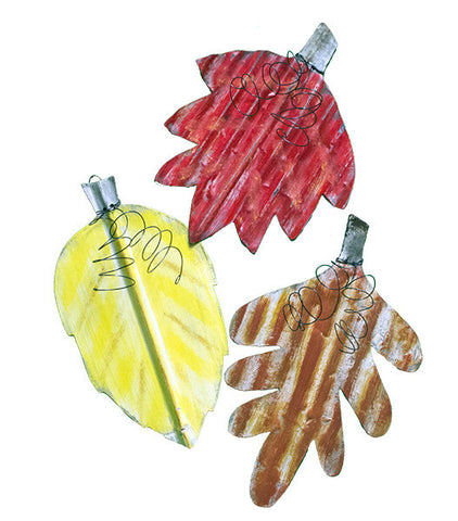LEAVES - SET OF 3 - ASSORTED COLORS
