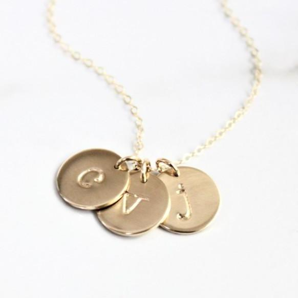 Initial Necklace - 13mm - Gold, Silver or Rose