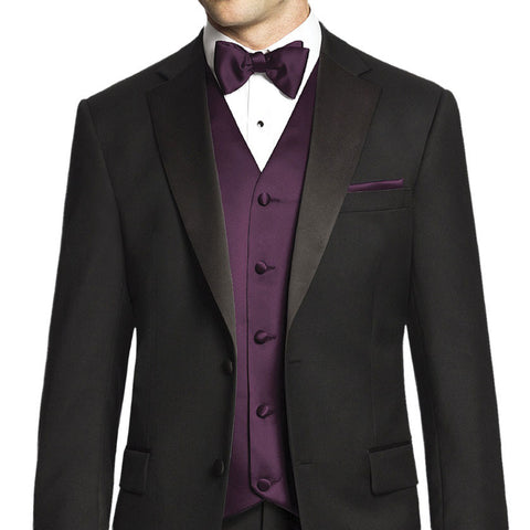 Vest and Tie - Purple