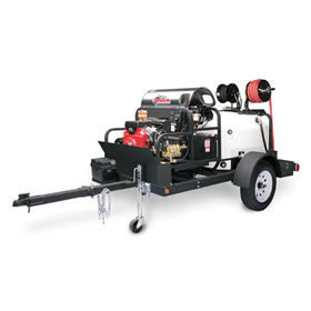 Shark Commercial Trailer Fully Equipped w/ Pressure Washer