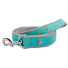 Aqua Starfish Ribbon Dog Leash