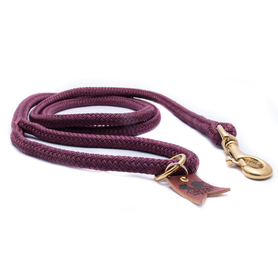 Burgundy Harbor Double Braid Rope Dog Leash