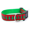 Christmas Trees Ribbon Dog Collar
