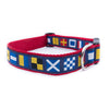 Code Flags Ribbon Dog Collar