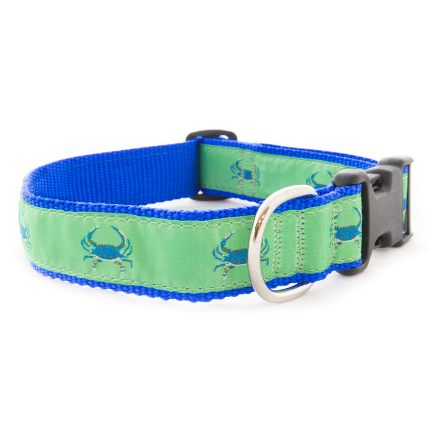 Green Crab Ribbon Dog Collar