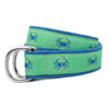 Green Crab Ribbon D-Ring Belt