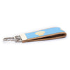 Light Blue Scallop Shell Ribbon Key Fob