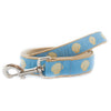 Light Blue Scallop Shell Ribbon Dog Leash