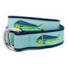 Mint Mahi Mahi Ribbon D-Ring Belt
