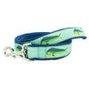 Mint Mahi Mahi Ribbon Dog Leash