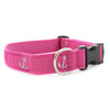 Pink Anchor Ribbon Dog Collar