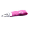 Pink Anchor Ribbon Key Fob