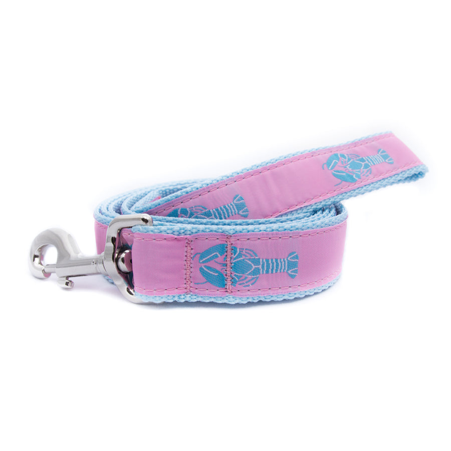 Pink Lobster Ribbon Dog Leash