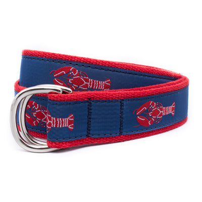 Red Lobster Ribbon D-Ring Belt