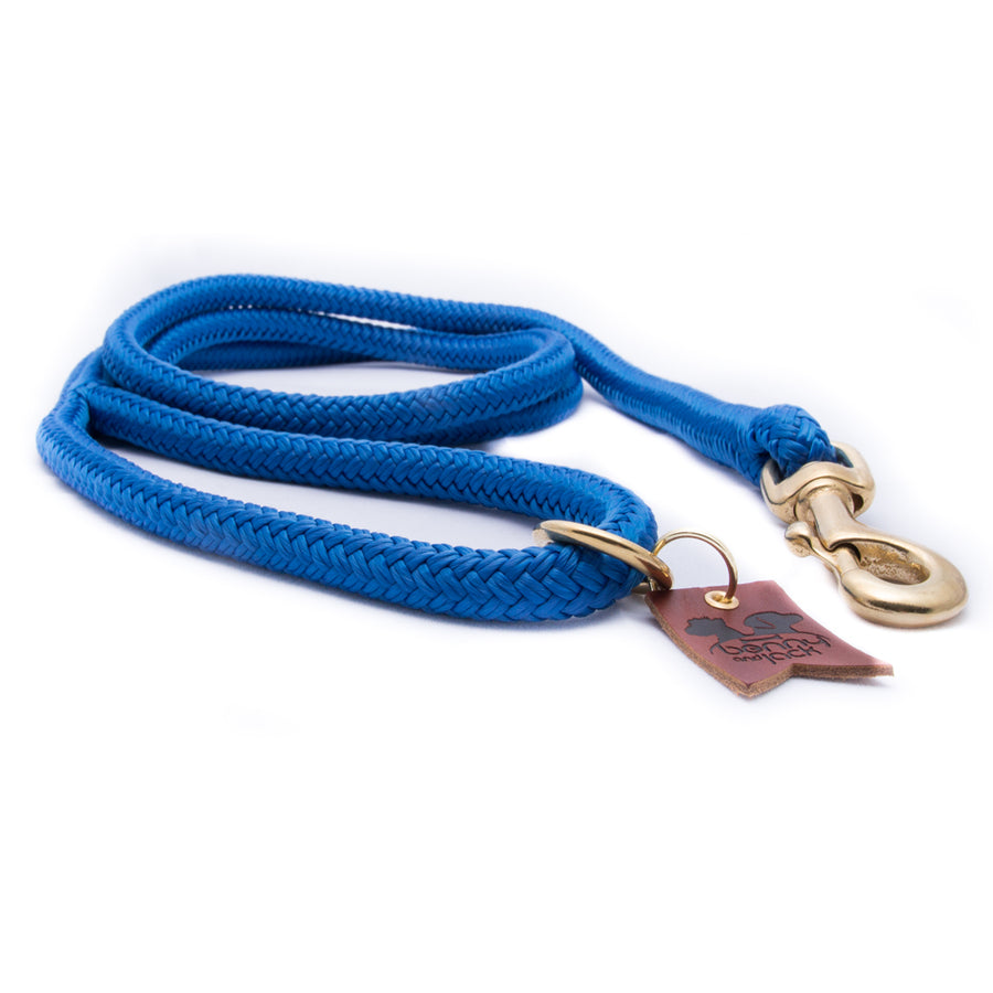 Royal Blue Harbor Double Braid Rope Dog Leash