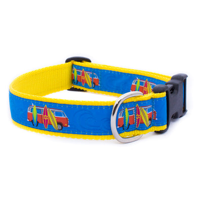 Surfboards Ribbon Dog Collar