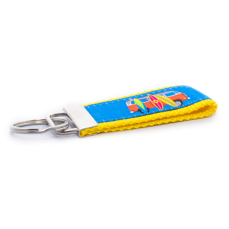 Surfboards Ribbon Key Fob