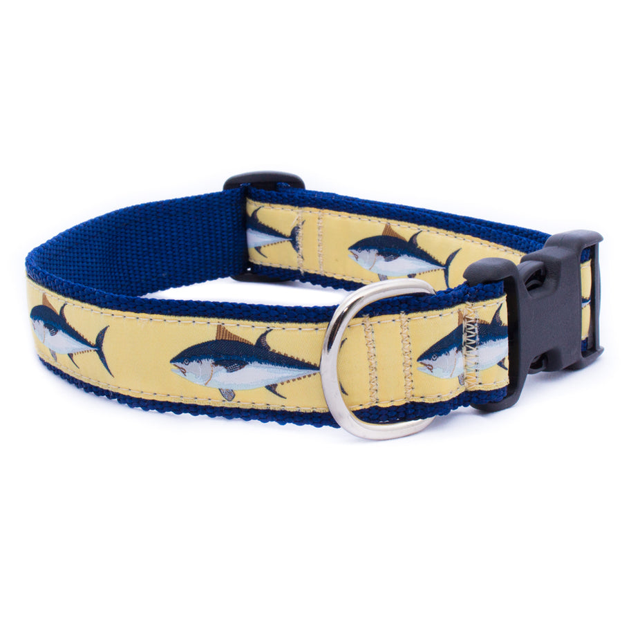Bluefin Tuna Ribbon Dog Collar