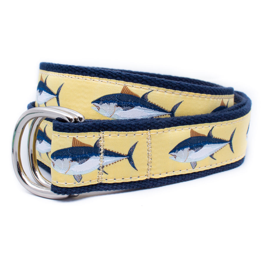 Bluefin Tuna Ribbon D-Ring Belt