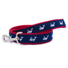White Whale on Navy Ribbon Dog Leash