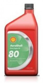 AEROSHELL AVIATION OIL 80 SAE 40 MINERAL OIL  QUART