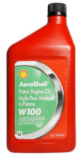 AEROSHELL AVIATION OIL W100 SAE50  QUART