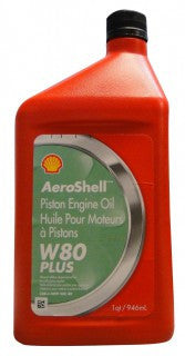 AEROSHELL AVIATION OIL W80 PLUS  QUART