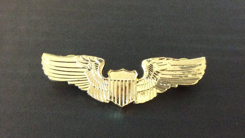 Large Gold Pilot Wings