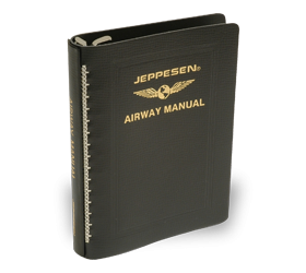 "Jeppesen Standard Leather 1"" Airway Binder"