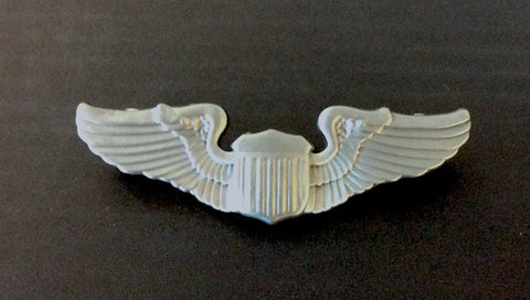 Large Silver Pilot Wings